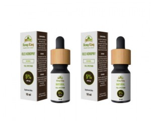 2x Olejek konopny Natural 5% CBD 10ml