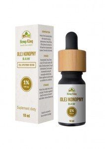 Olej CBD 1% (100mg) Full Spectrum RAW 10ml